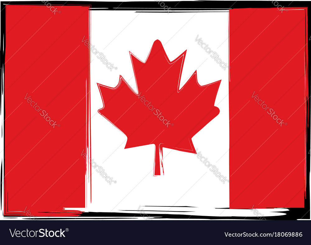 grunge canada flag or banner royalty free vector image