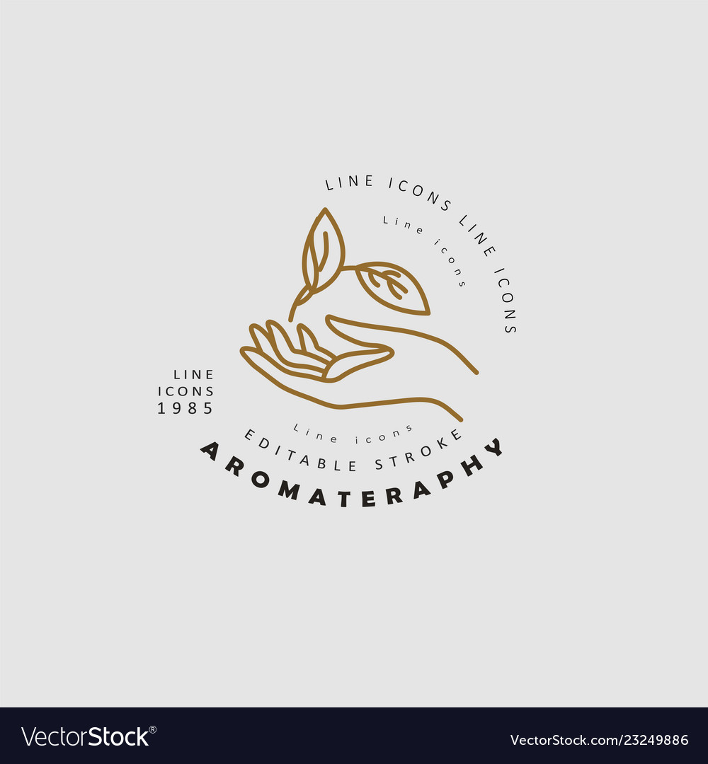 Icon And Logo For Aromatherapy Editable Royalty Free Vector