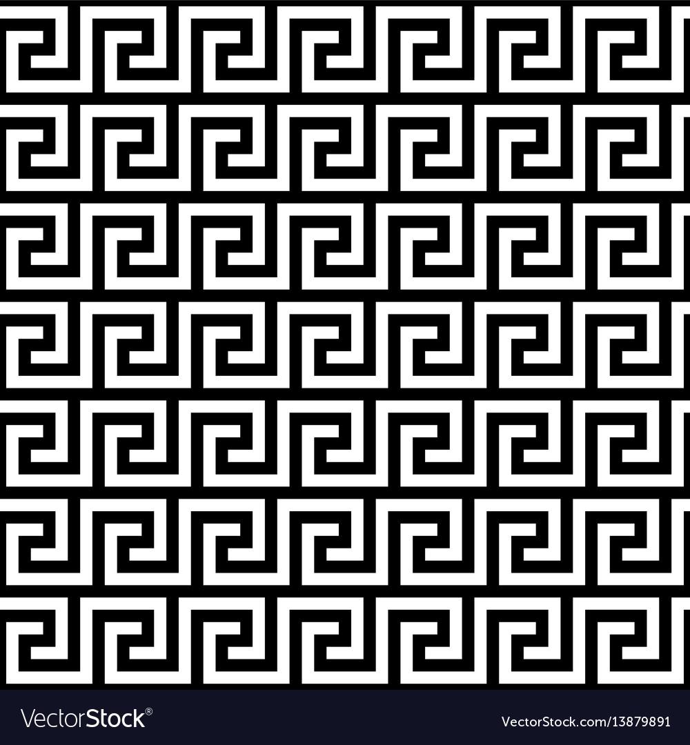 Ancient greek key pattern - seamless borders vector image