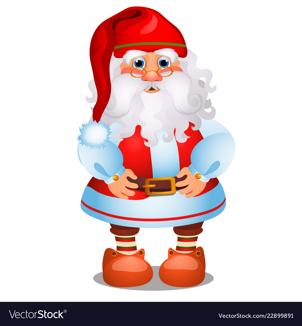 Animated santa claus in red christmas costume