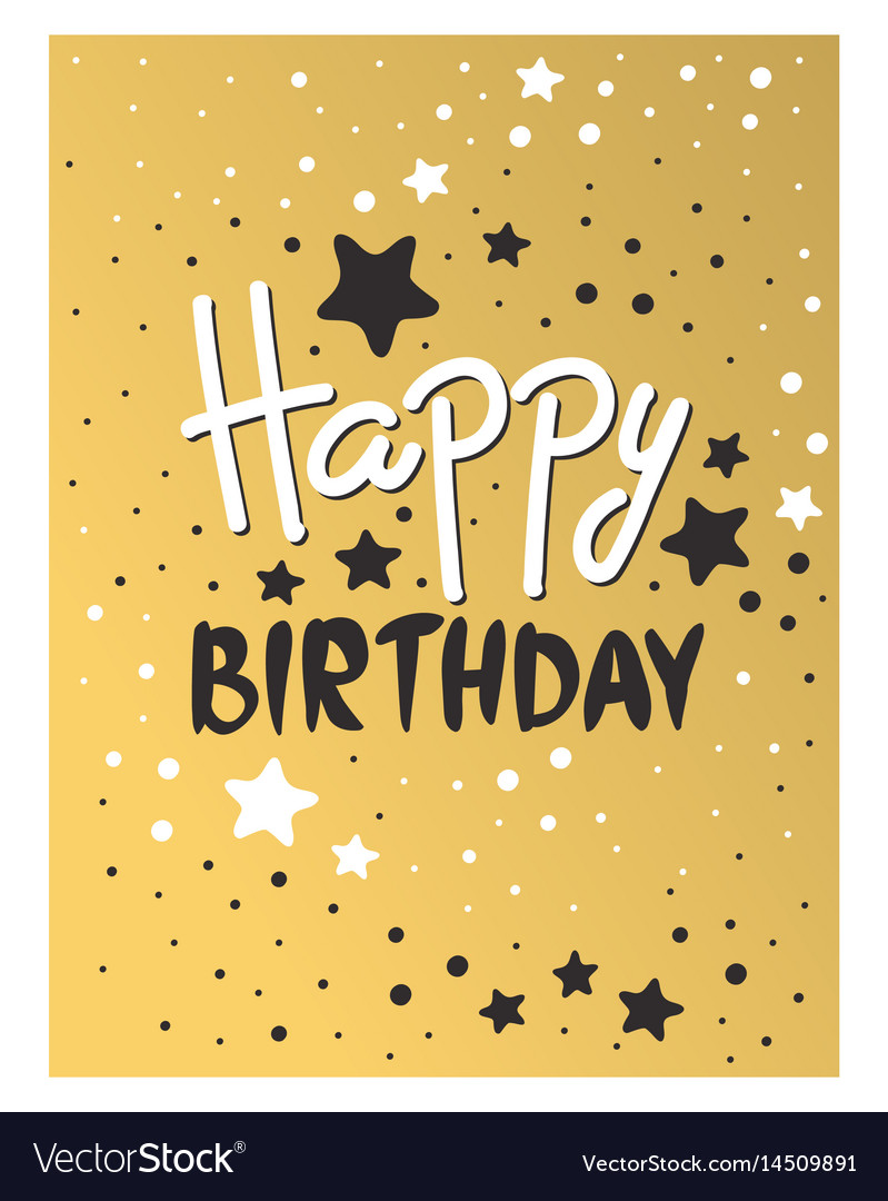 Beautiful Birthday Invitation Card Design Gold And