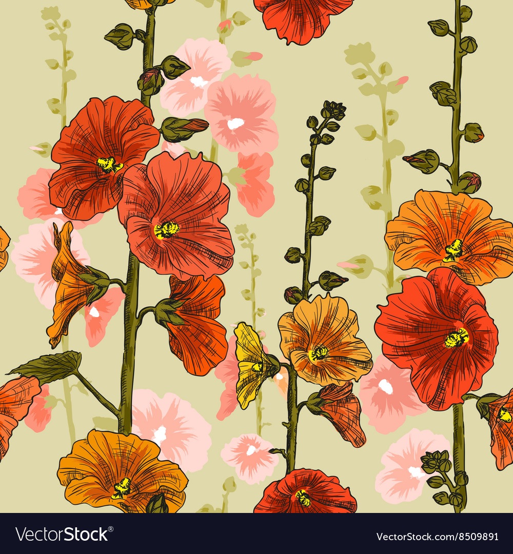 Bright Seamless Floral Background