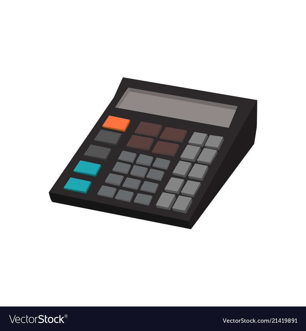 Calculator isolated