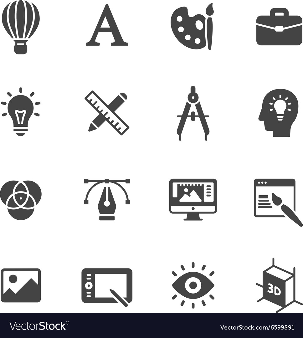 Design Icons vector image