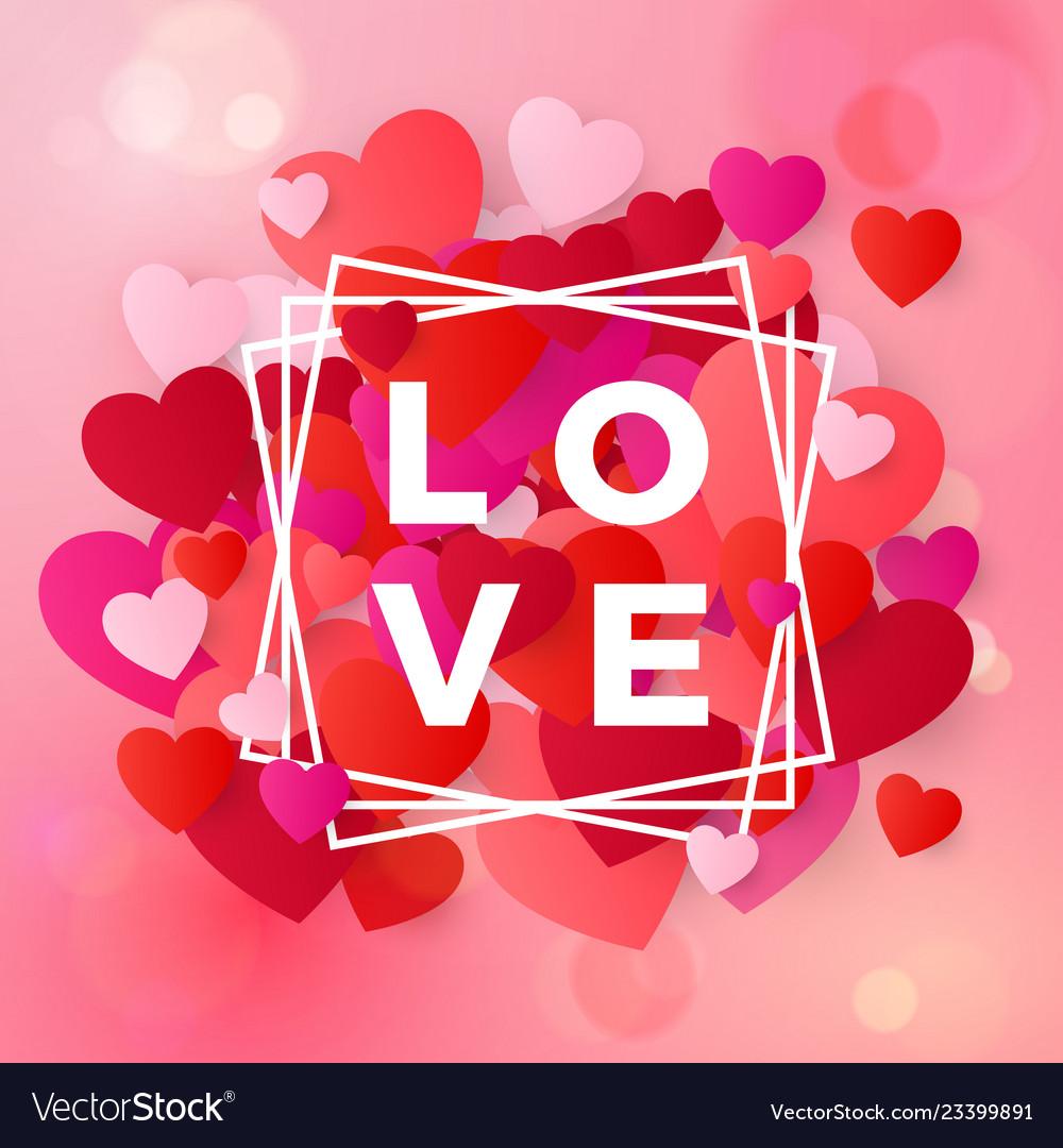 Happy valentines day and wedding design elements