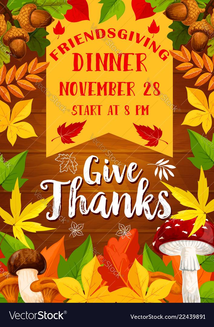 Holiday potluck dinner poster