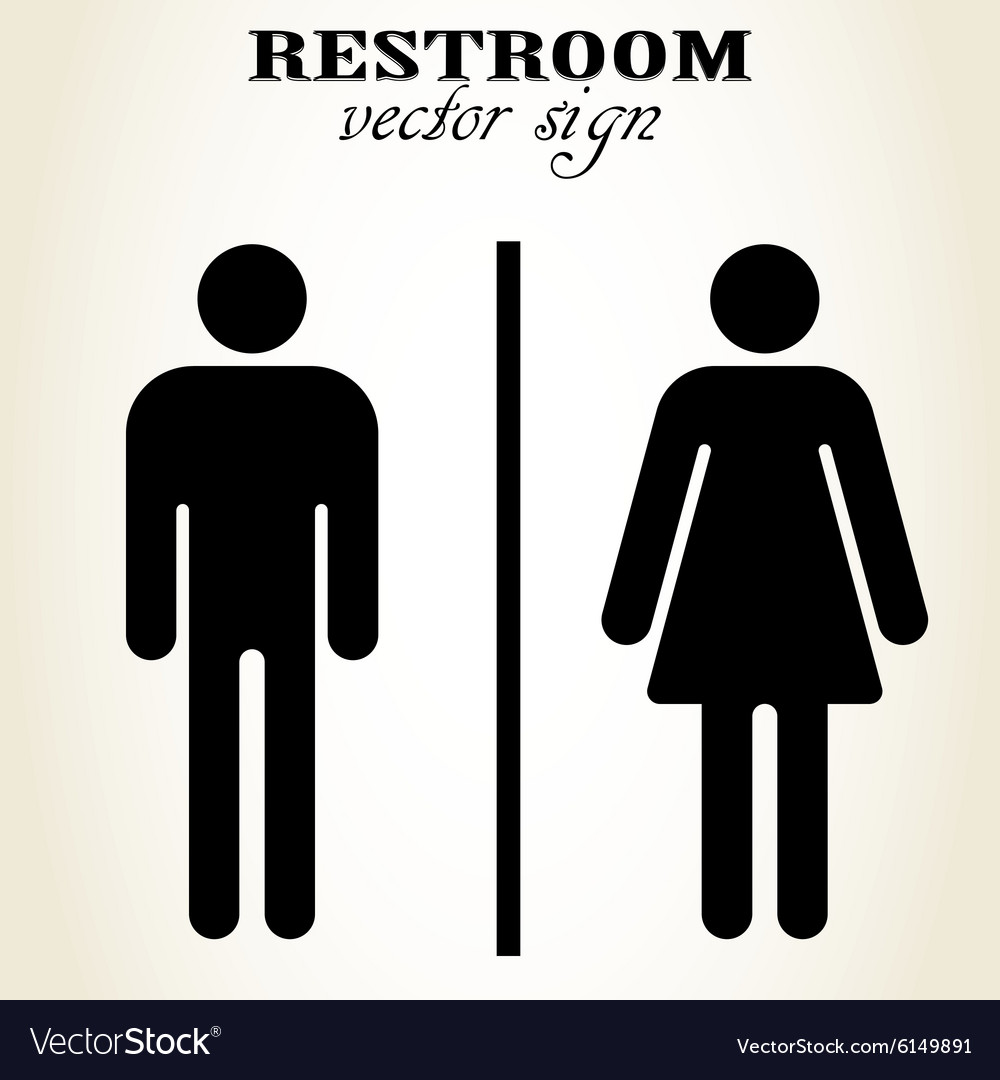 . Male and Female Restroom sign