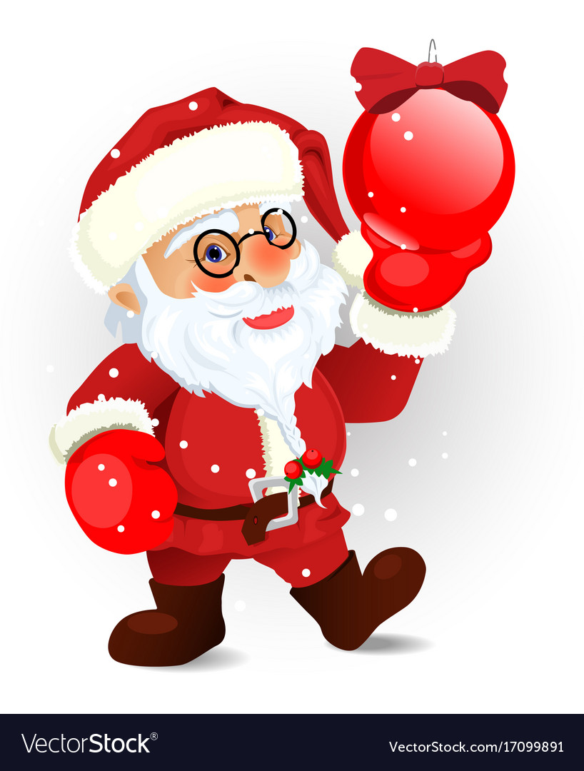 Santa on the white eps 10 vector image
