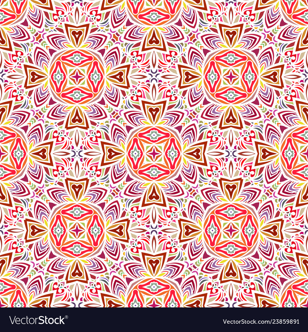 Seamless pattern in moroccan style mosaic tile
