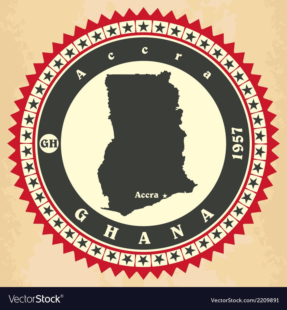 Vintage label-sticker cards of Ghana