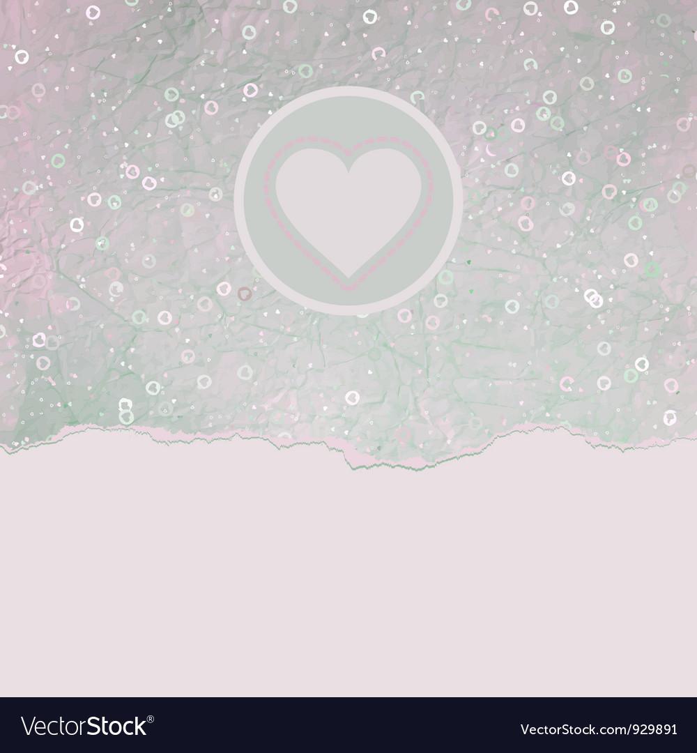 Vintage Valentines Hearts Card