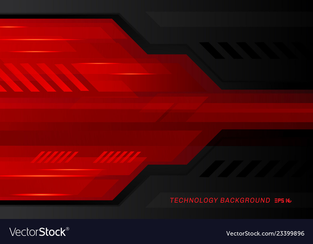 Abstract technology metallic red black contrast