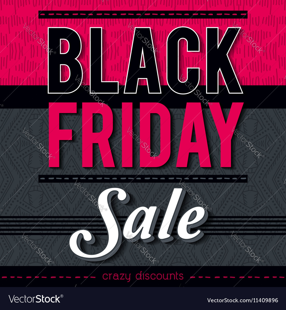Black friday sale banner on patterned background