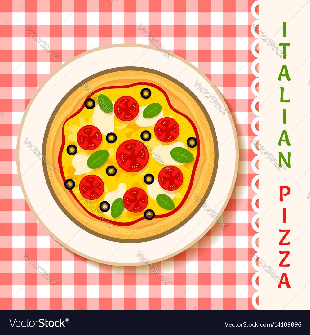 Margherita pizza vector image