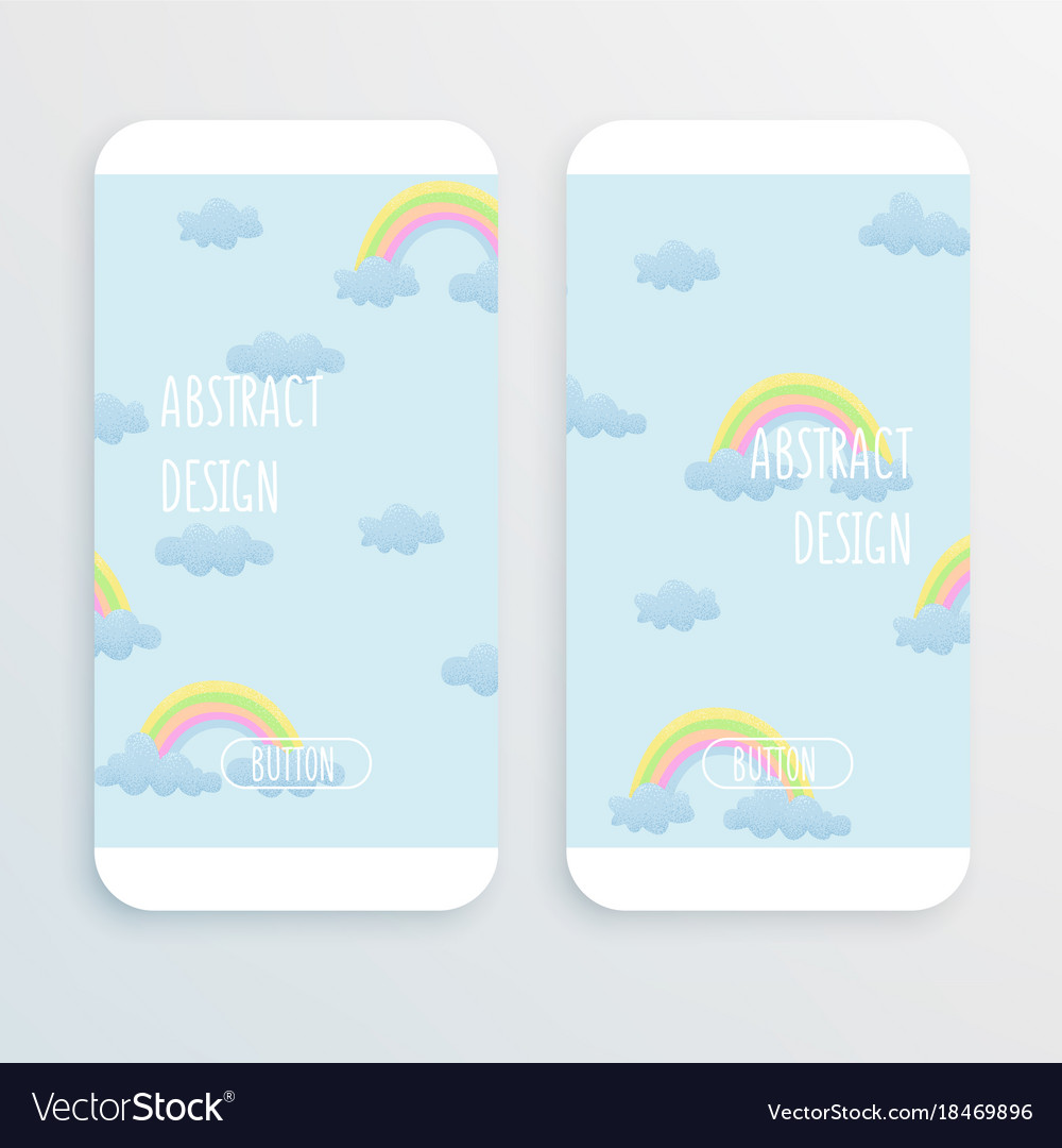 Rainbow and cloud design