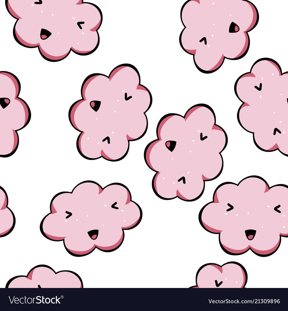 Seamless pattern kawai pink cl...