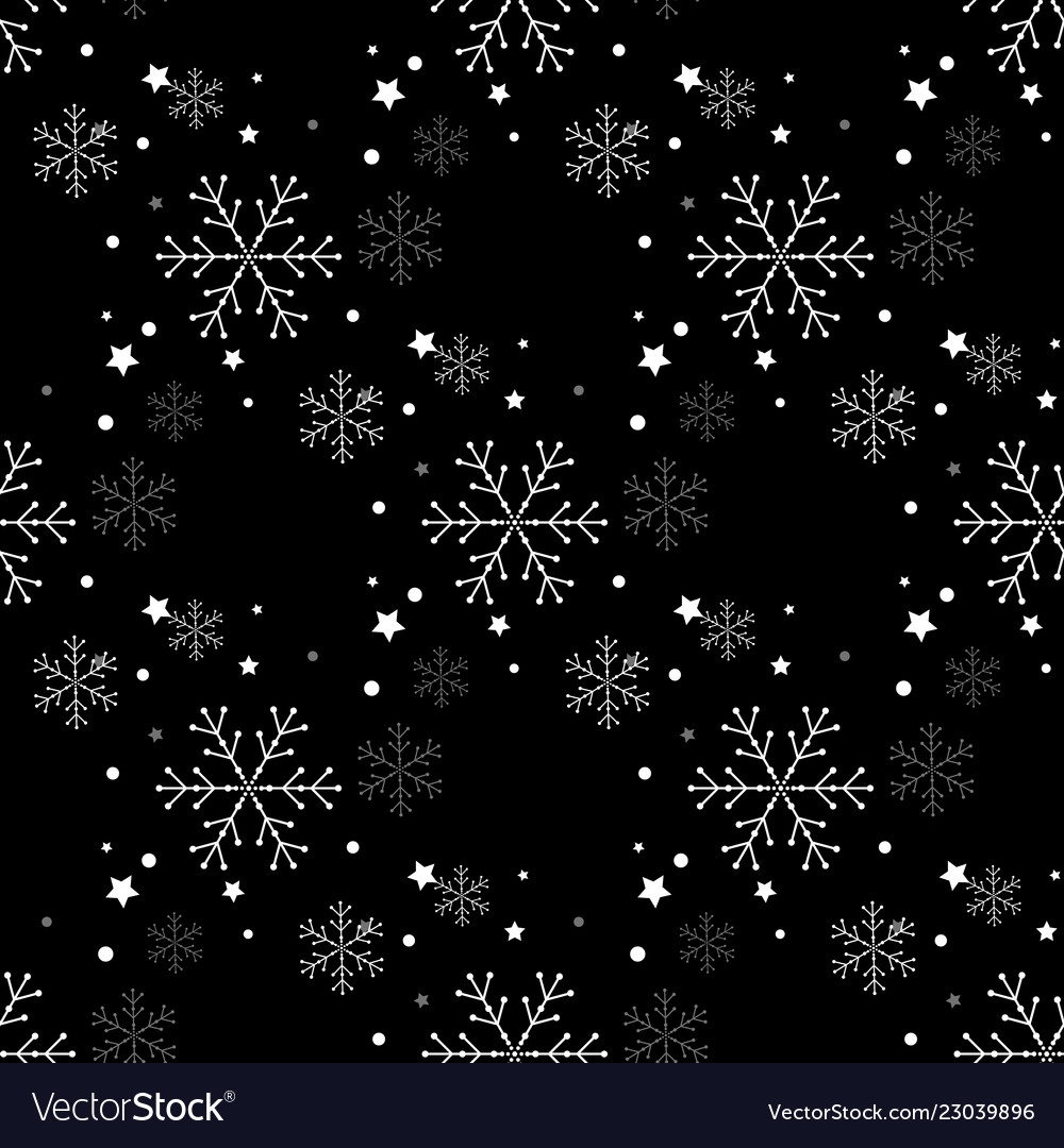 Snowflake simple seamless pattern abstract