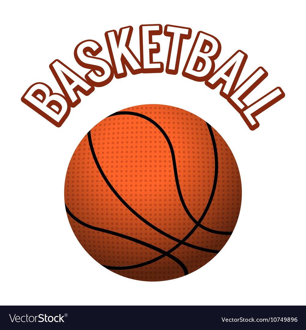 Textured basketball ball vector image