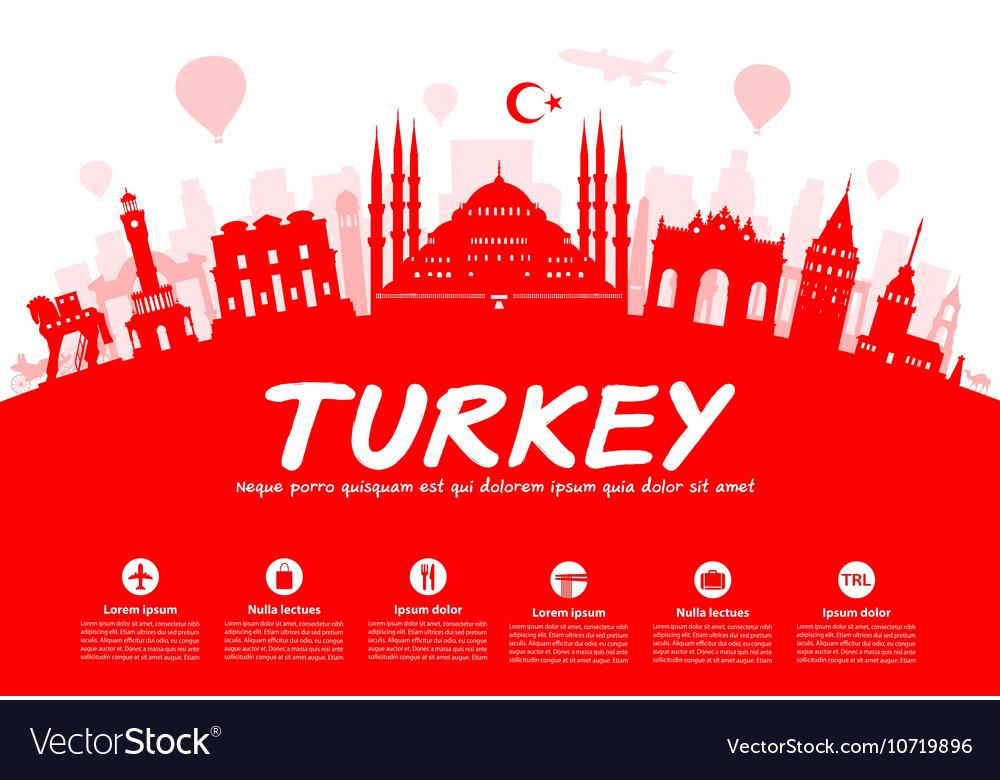 Turkey Travel vector image
