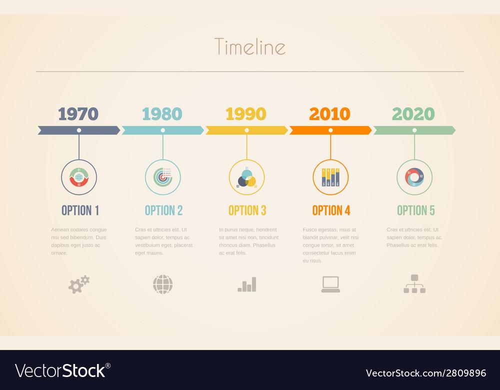 Visual date line in retro colors