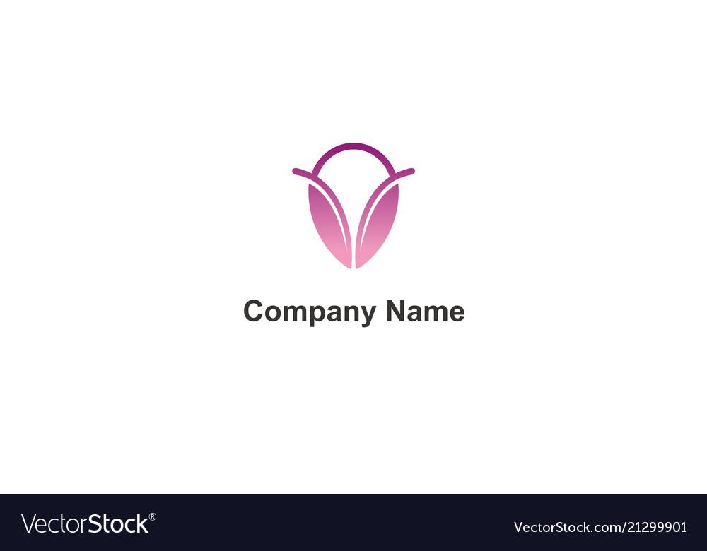 Abstract beauty woman company logo