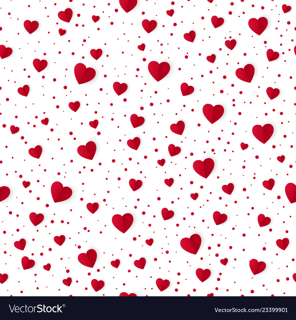 Abstract seamless heart pattern background paper