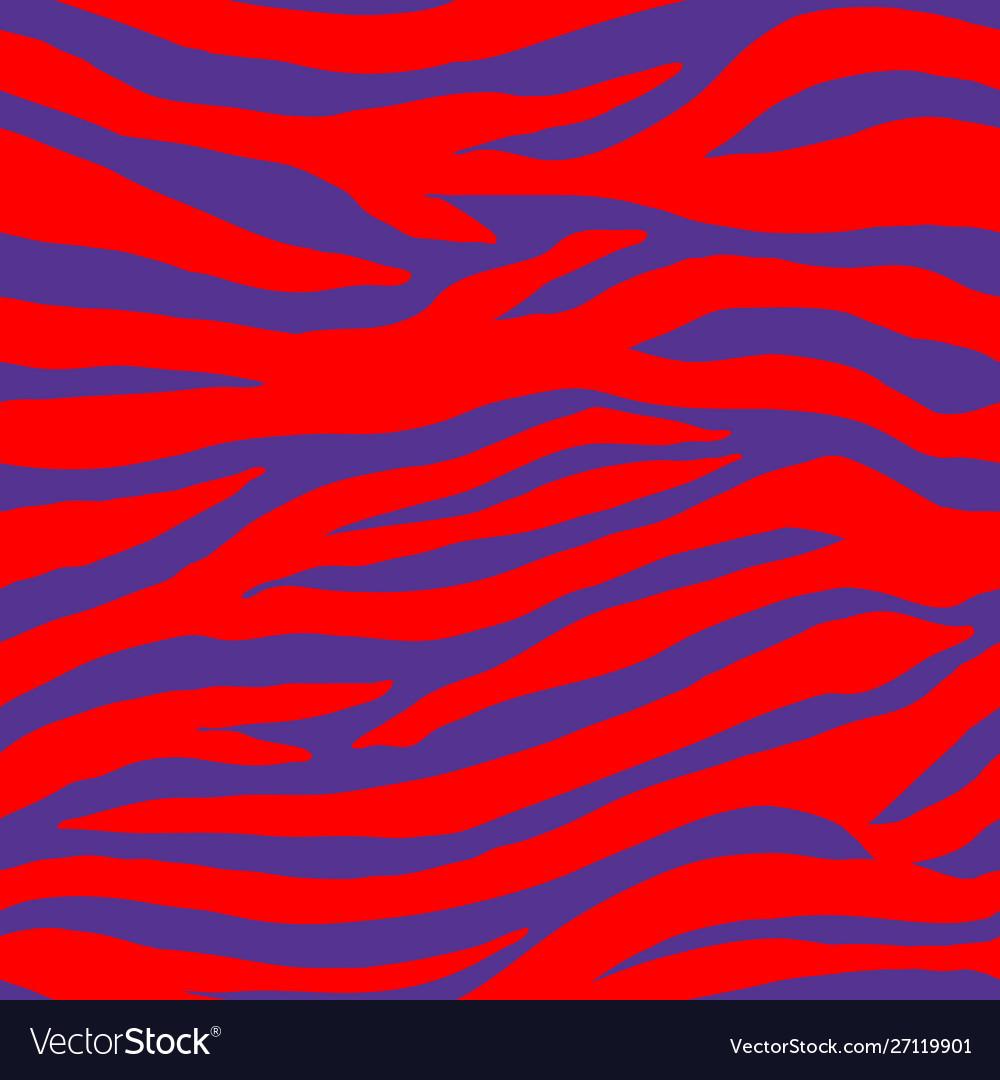 Blue red tropical animal zebra seamless pattern