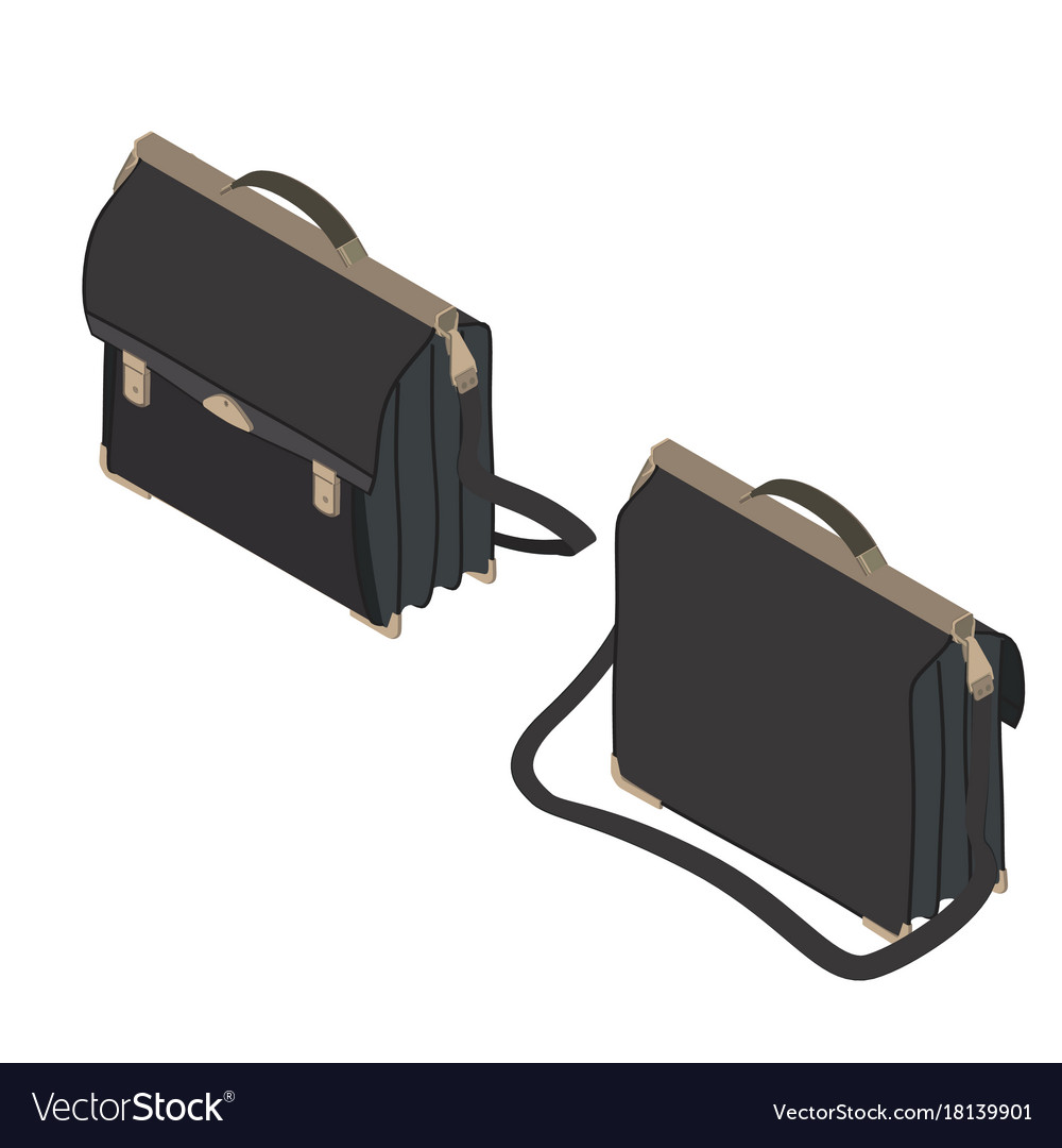 Briefcase isometric icon isolated case business
