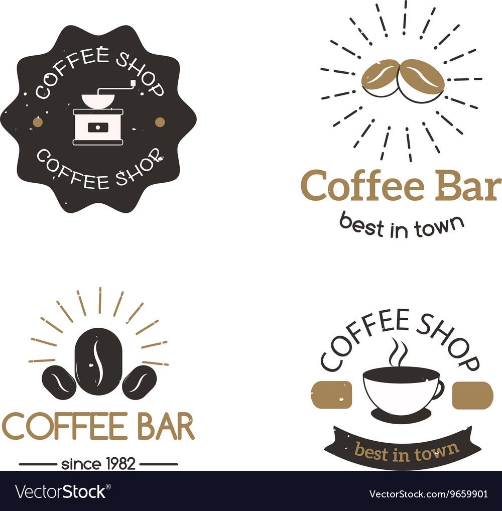 Coffee shop sign cafe symbol badge