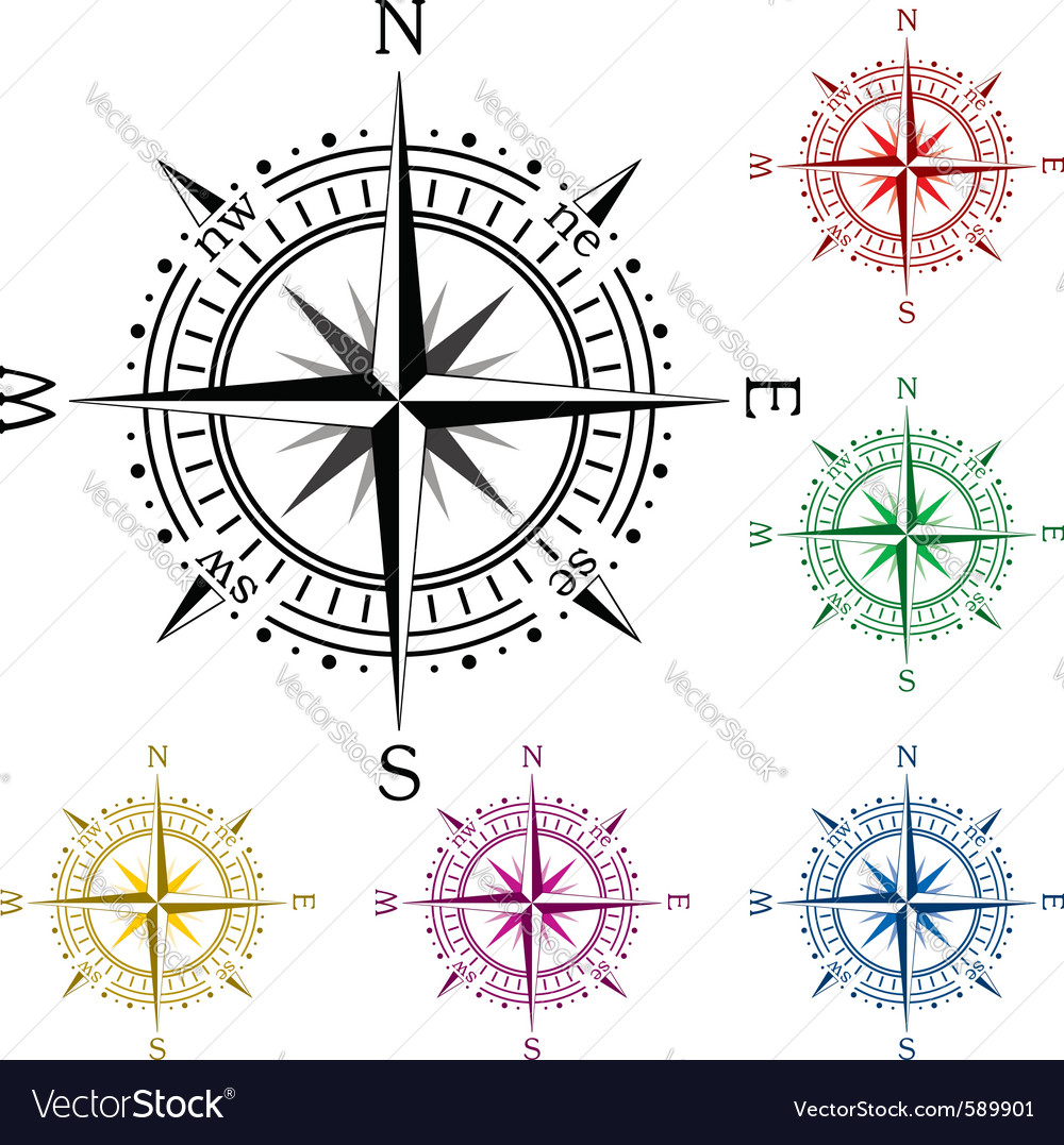 Colorful compasses