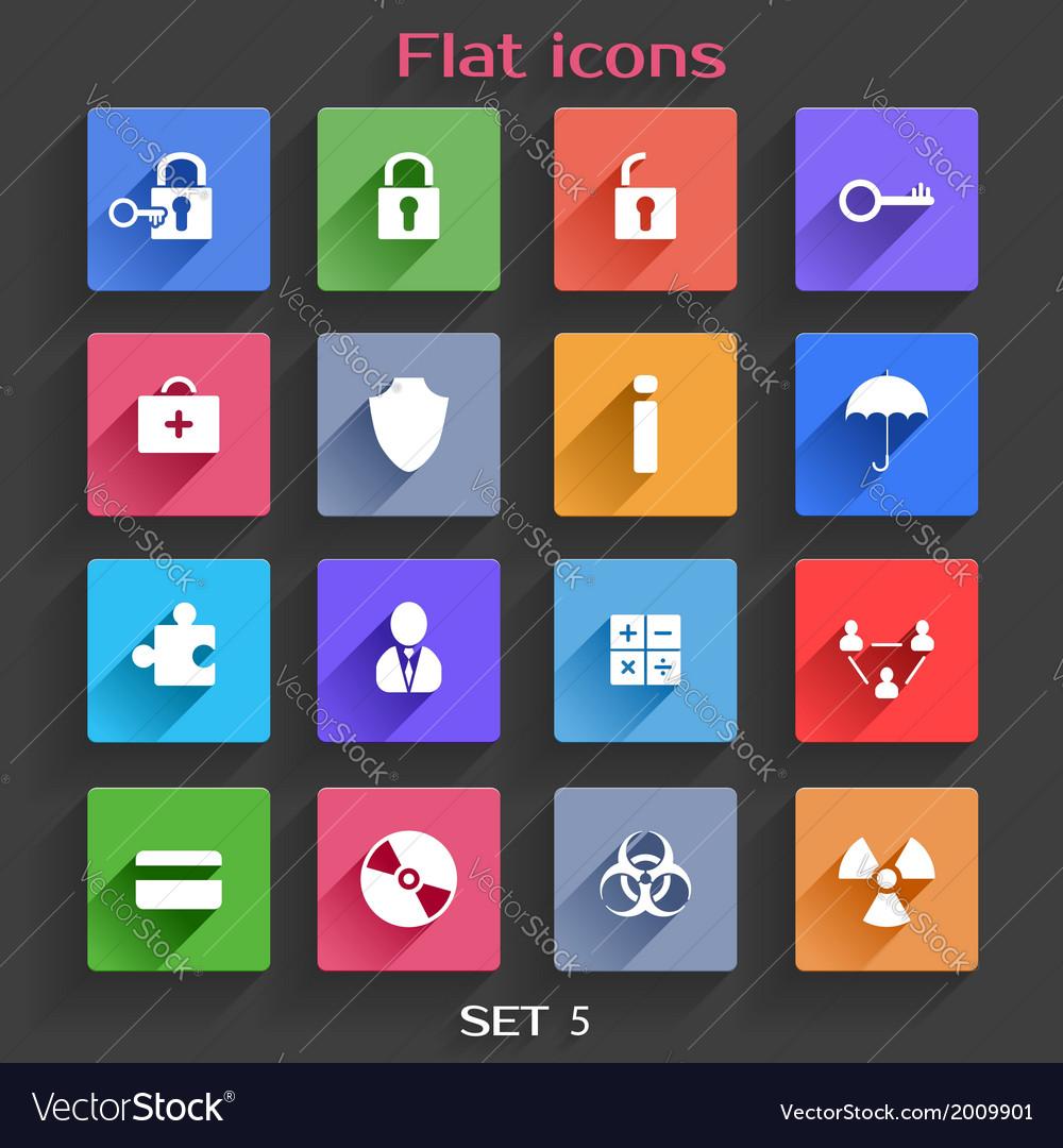 Flat Application Icons Set 5