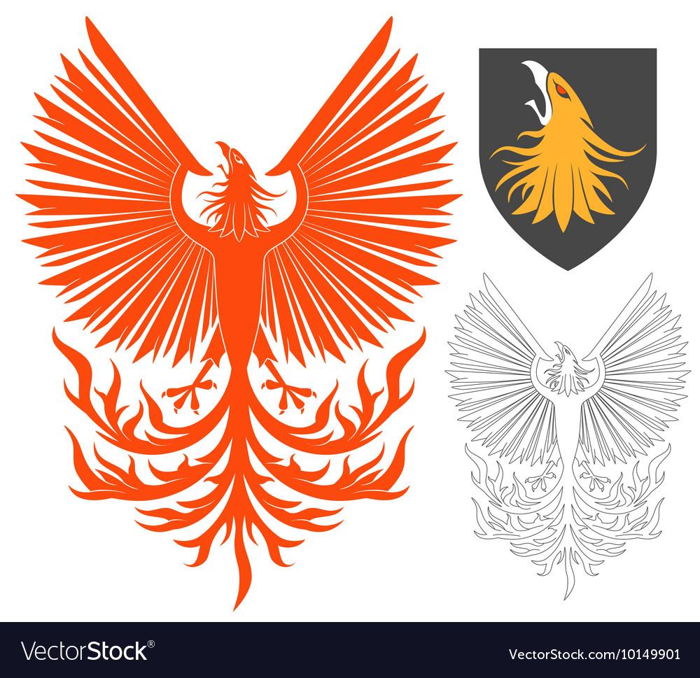 Red Phoenix Bird