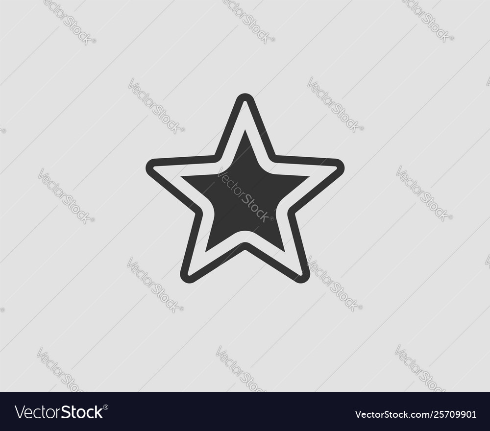 Star icon silhouette isolated on white background
