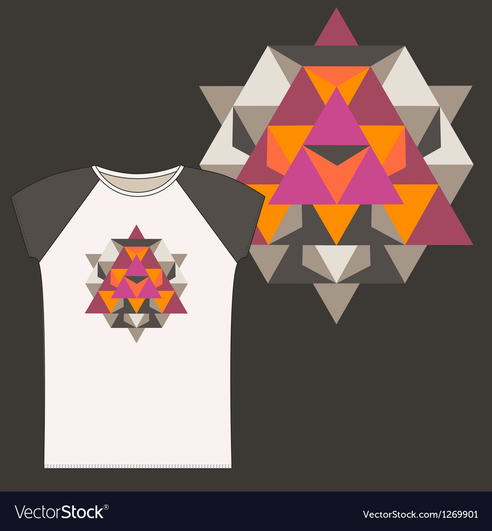 Star Tetrahedron for a woman t shirt