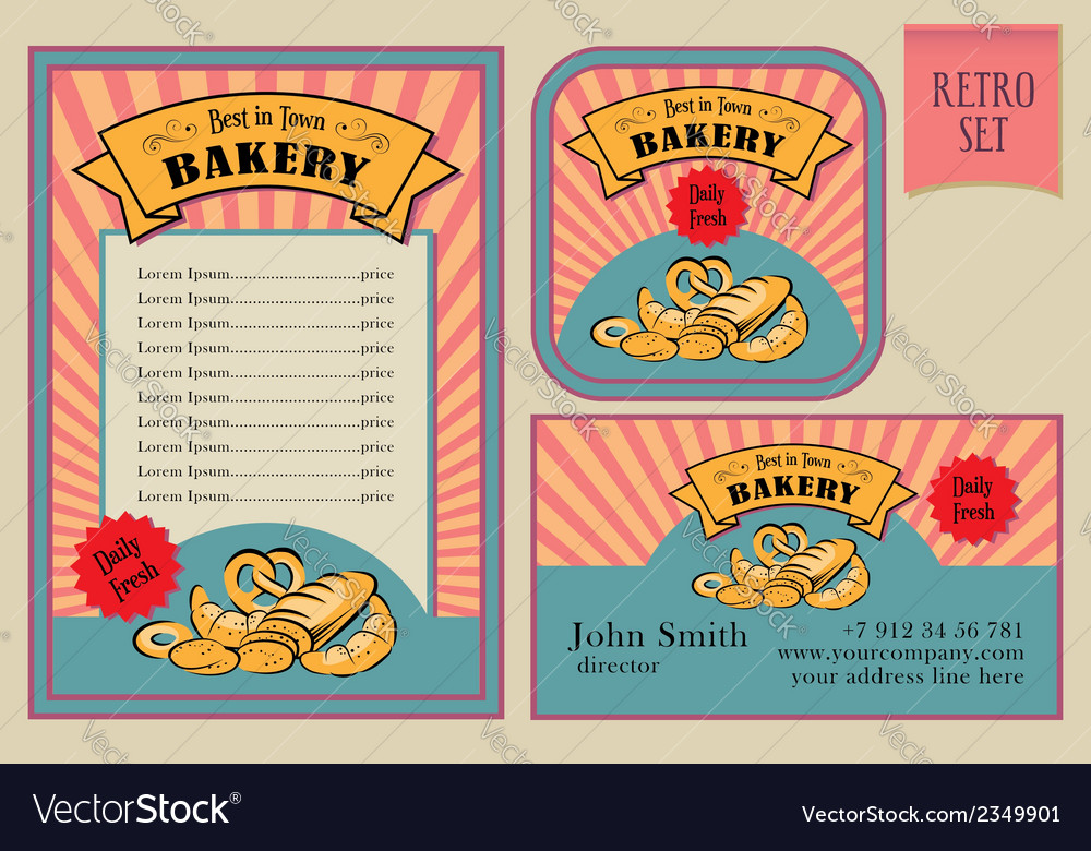 Vintage Bakery Labels Collection vector image