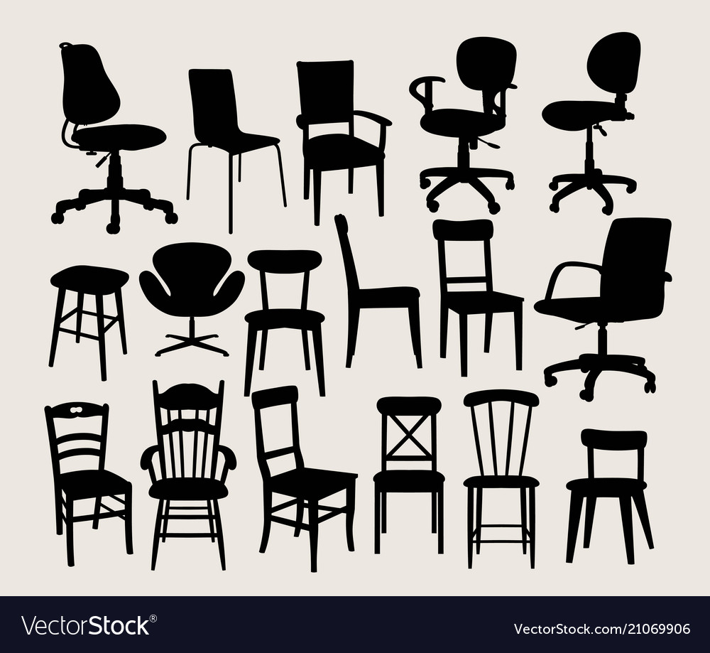 Chair set silhouette