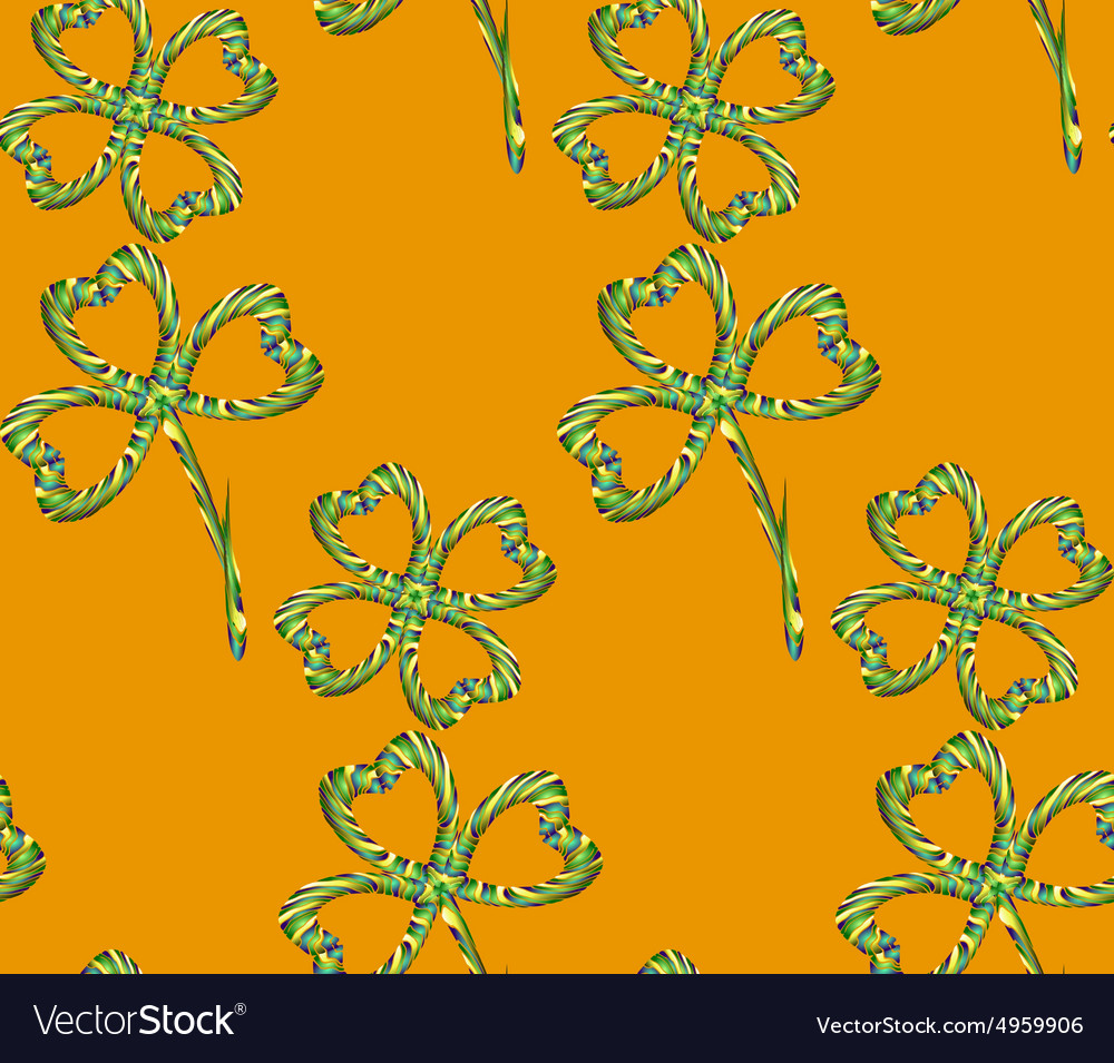 Clover Pattern3 vector image