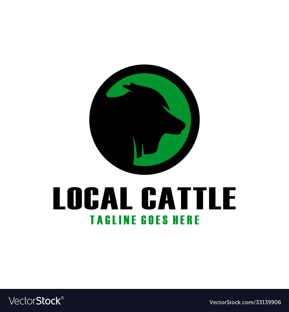 Cow farm modern logo