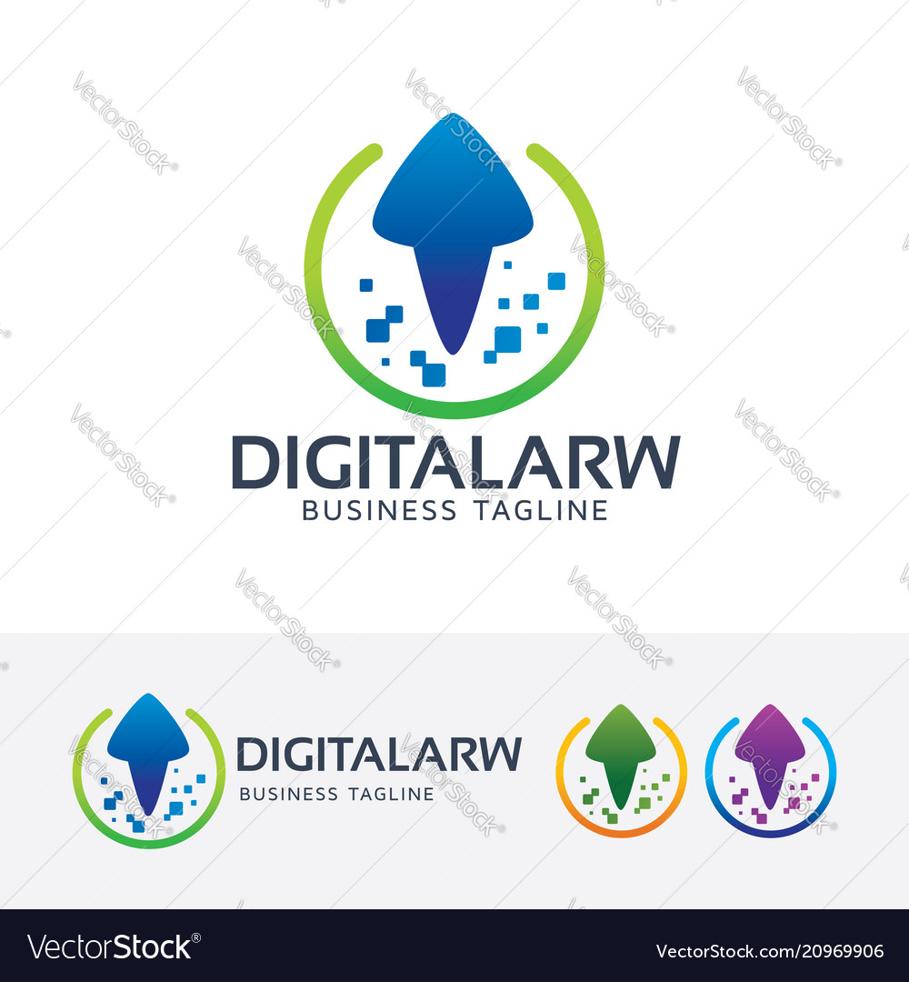Digital arrow logo design