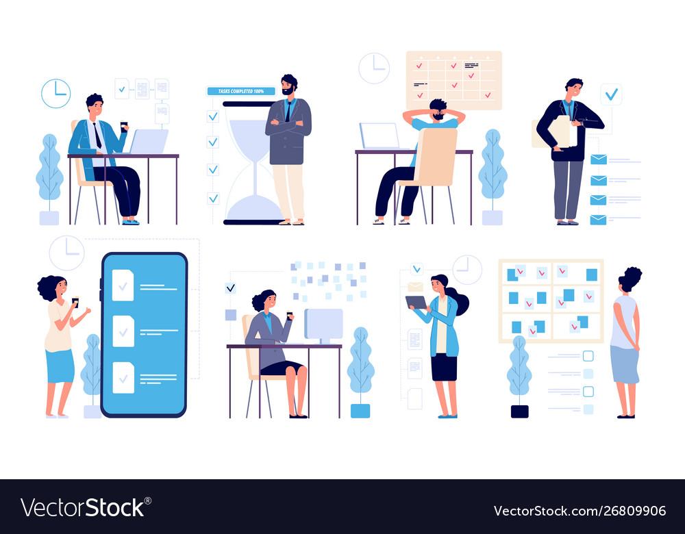 Effective time management man managed tasks