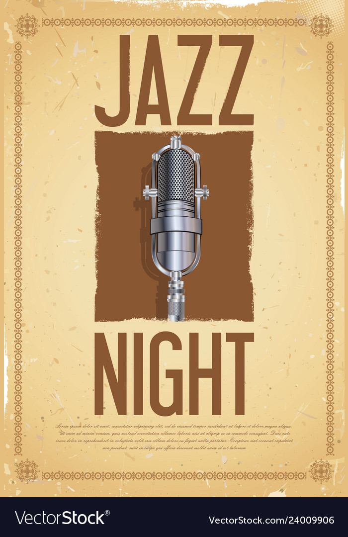 Jazz night retro background