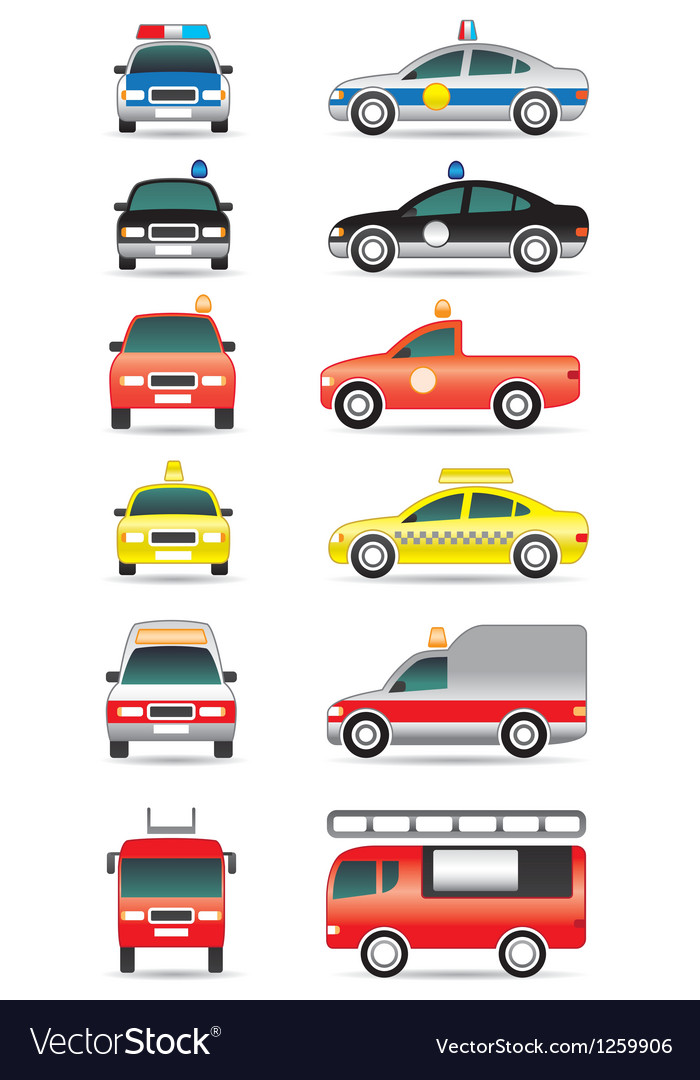 Special purpose cars vector image