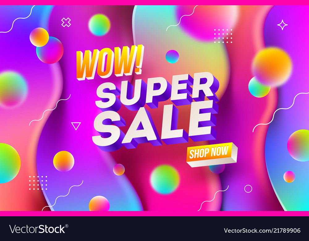Super sale promotion design