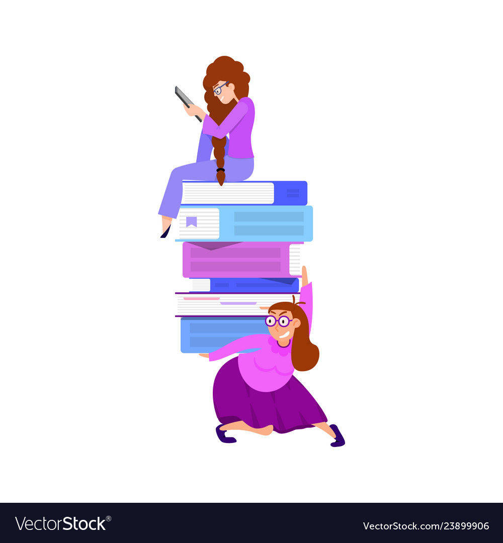 The concept of online library tiny characters and
