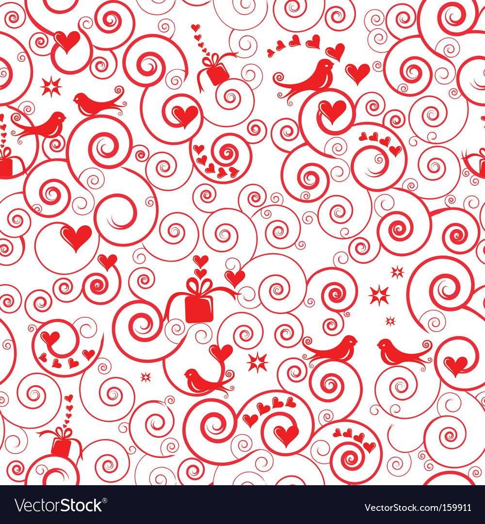 Christmas swirl pattern vector image