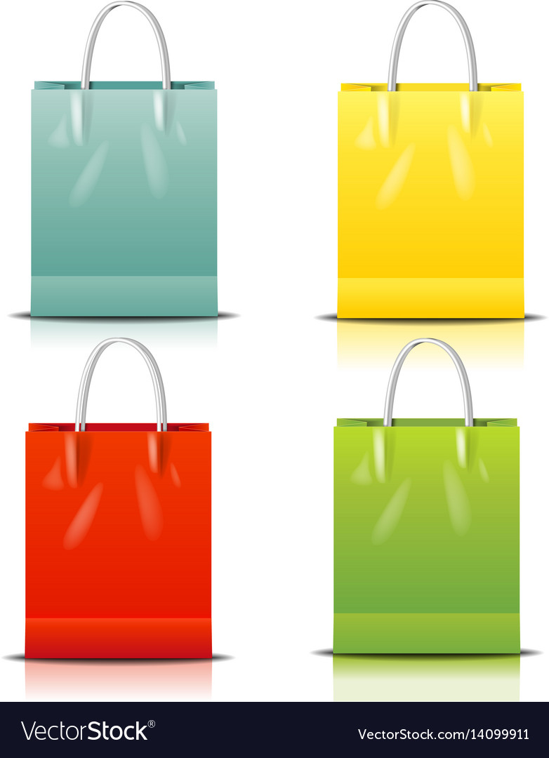 Color shopping bag vector image