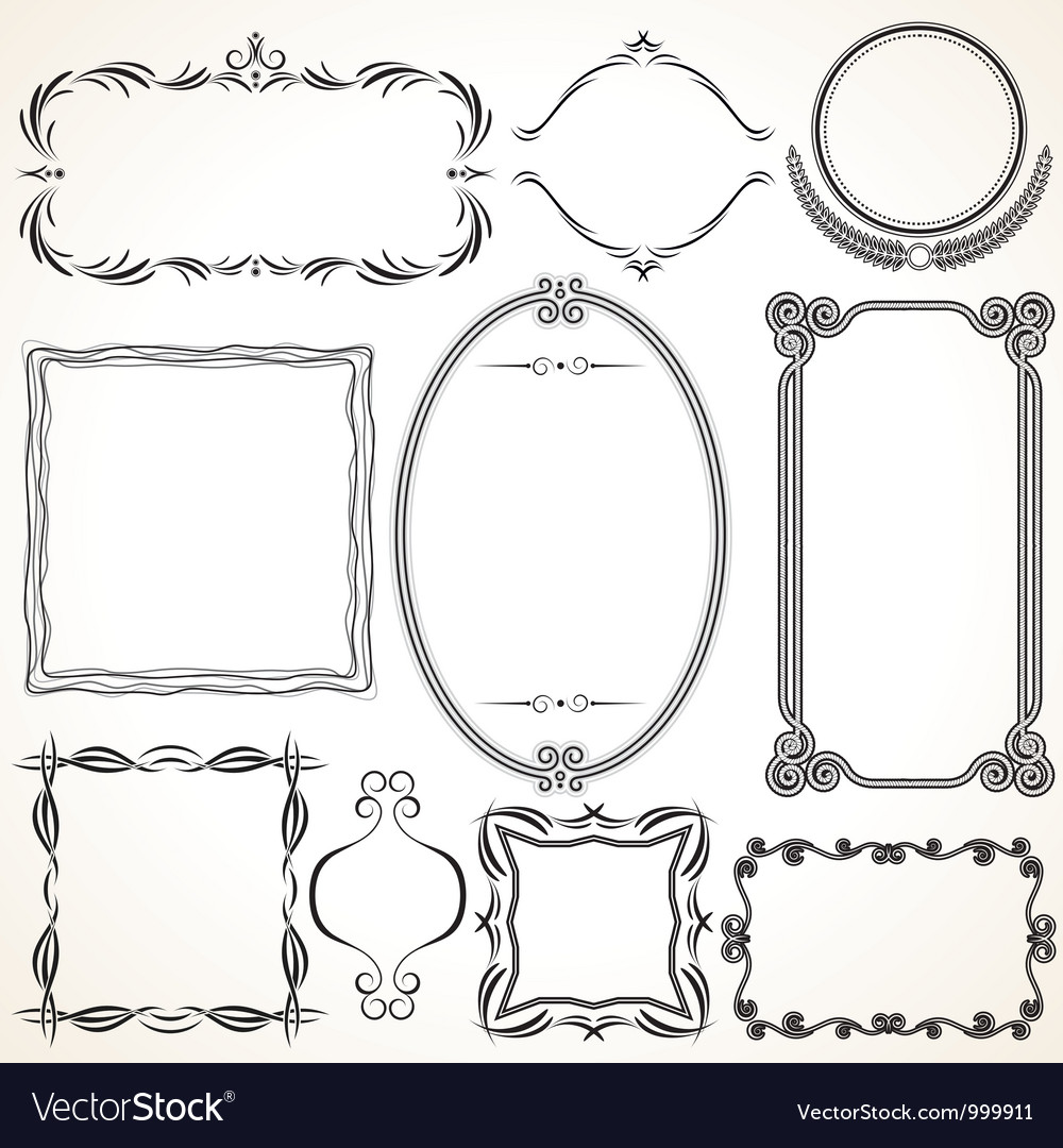 Design Ornamental Vintage Borders and frames