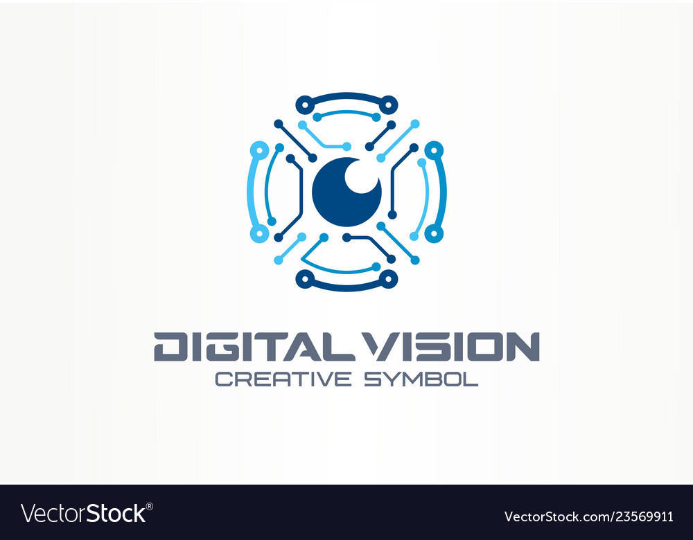 Digital vision creative symbol concept circuit