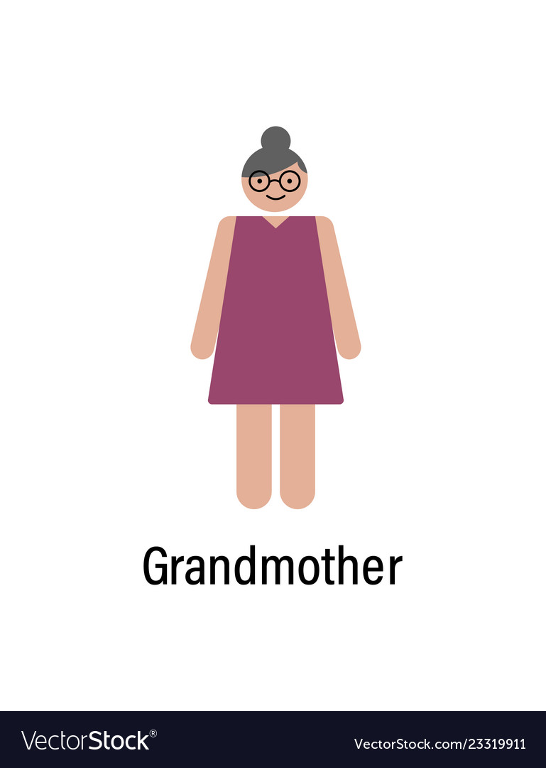Grandmother icon can be used for web logo mobile