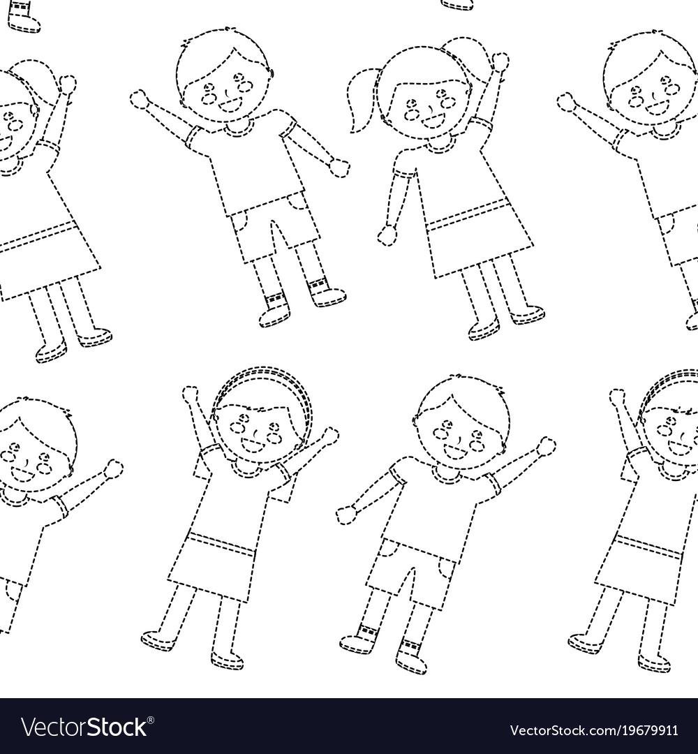Happy kids children pattern imag